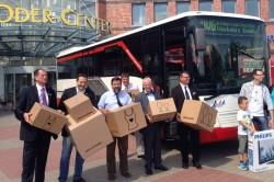 Einkäufe mit dem Bus liefern lassen: Im Oder-Center in Schwedt (Oder) ist das seit Juli 2013 möglich. (Foto: UVG)
