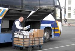 Pakete im Bus: Am Ende der Umsetzungsphase des Projekts zumindest in der Uckermark auch kein seltenes Bild
